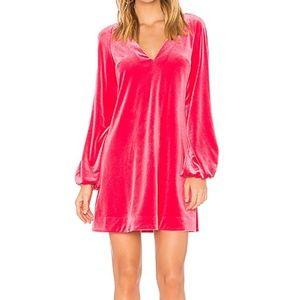 Free People Misha Mini Dress - Hot Pink L (NWT)